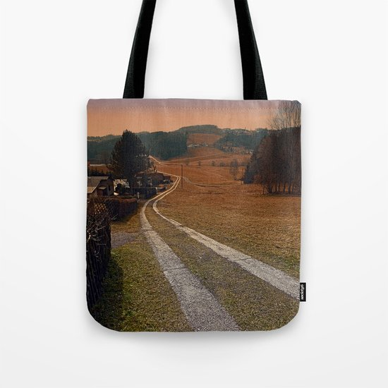 Scenery and a pathway into dawn | landscape photography Tote Bag