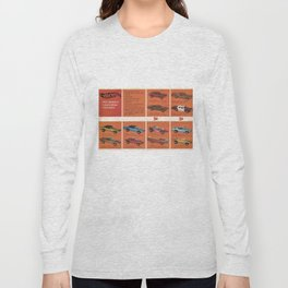 1969 Hot Wheels Redline Catalog Poster No 8 Long Sleeve T-shirt