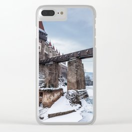 Fairytale Castle in the Snow Clear iPhone Case