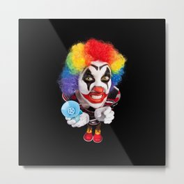 Crazy Clown Metal Print