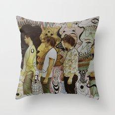 boy mandeville Throw Pillow