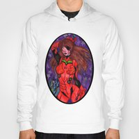 evangelion Hoodies featuring Asuka from Evangelion by Jazmine Phillips