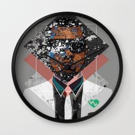Hip Hop KanyeWest Compilation Minimal Abstract Wall Clock
