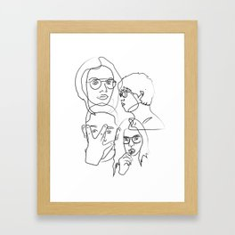 Black an White People Framed Art Print