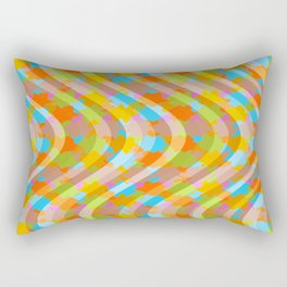Wavy Lines 2 - Tan Rectangular Pillow