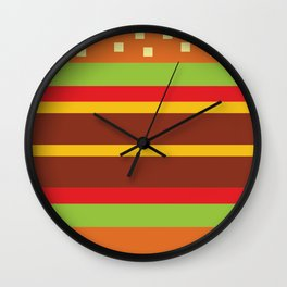 Minimalistic Cheese Burger Wall Clock