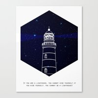 lighthouse Canvas Prints featuring Lighthouse by Mehdi Elkorchi