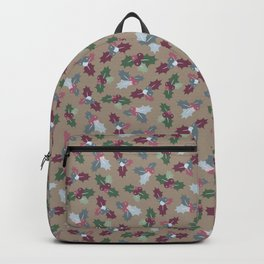 Holly Christmas Pattern Backpack