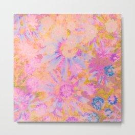 far out! pink floral tie dye Metal Print