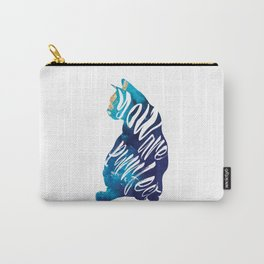 You Are Purrfect Cute Cat Quote Carry-All Pouch
