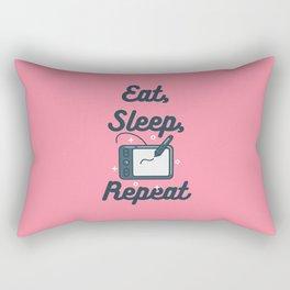 Eat, Sleep, Draw, Repeat Rectangular Pillow