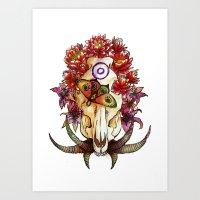 Boar Skull Art Print