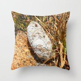 Watercolor Poop, Coyote 01, Windy Gulch, RMNP, Colorado Throw Pillow