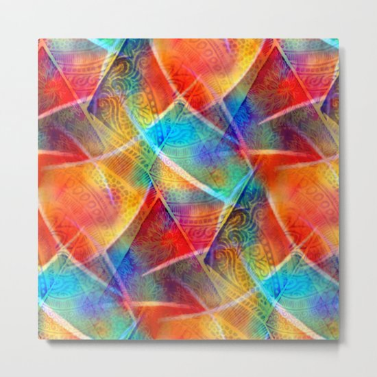 Boho Rainbow Metal Print