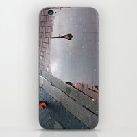 dublin iPhone & iPod Skins featuring Dublin puddle by Esther Moliné