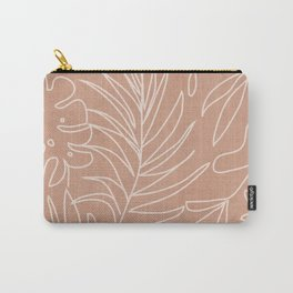 Engraved Tropical Line Carry-All Pouch