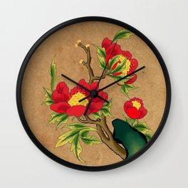Minhwa: Peony on the Rock C Type Wall Clock