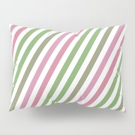 Pink Roses in Anzures 4 Stripes 1B Pillow Sham