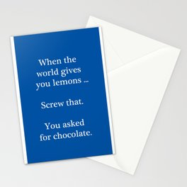 Bitter Response Stationery Cards