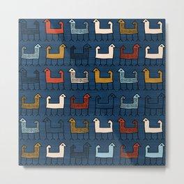 Zagros in Blue Metal Print