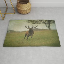 Charging Stag Rug