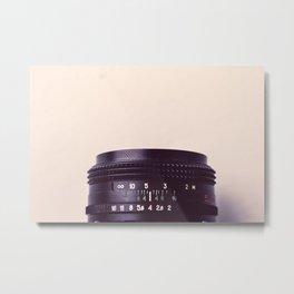 Camera Lens Detail Metal Print