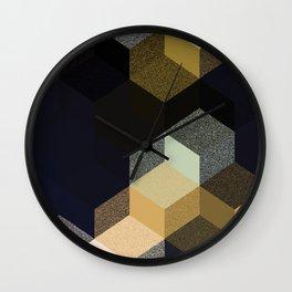 CUBE 1 GOLD & BLACK Wall Clock