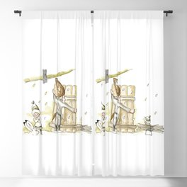 Winter - Inspiration of Elsa Beskow Blackout Curtain