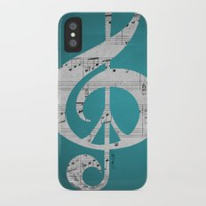 Music & Peace Aqua Sheets iPhone X Slim Case