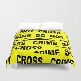 Crime Scene Tape Duvet Cover