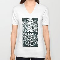 mirror V-neck T-shirts featuring mirror by Valeria Kondor