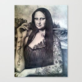 Tatted Lisa Canvas Print