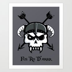 I Used To Be a Pirate... Art Print