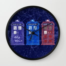 The Doctors' TARDISes Wall Clock