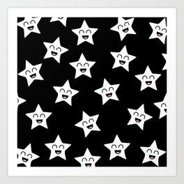 Happy Stars Art Print