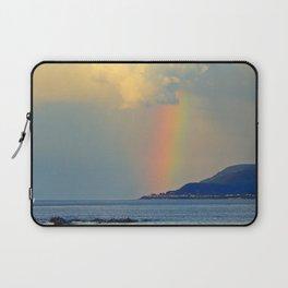 Storm Drops a Rainbow onto Village Laptop Sleeve