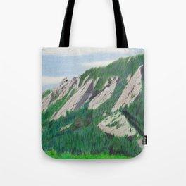 Boulder Flatirons in the Summer Tote Bag