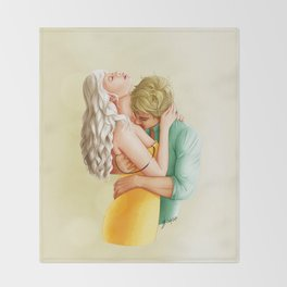 You Leave Me Breathless - Nikolina Throw Blanket
