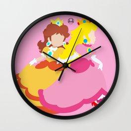 Princess Peach & Princess Daisy (Toadstool Theme) Wall Clock
