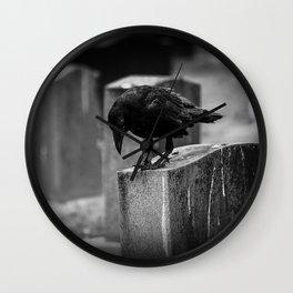 Cemetery Crow Wall Clock