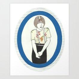 Girl With Braces Art Print