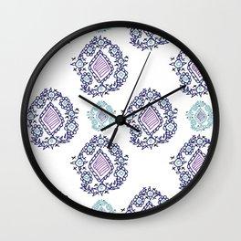 doodle ikat Wall Clock
