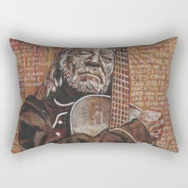 Willie's Guitar Rectangular Pillow