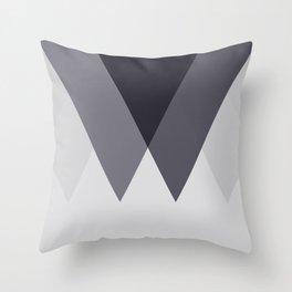 Sawtooth Blue Grey Throw Pillow