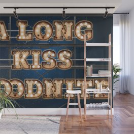 A Long Kiss Goodnite - Wall-Art for Hotel-Rooms Wall Mural