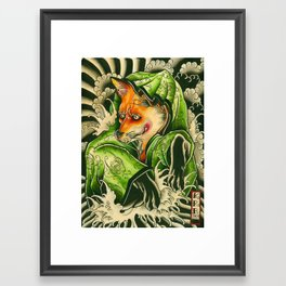 kitune Framed Art Print
