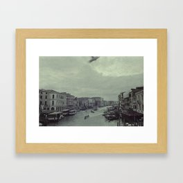 Venice Rialto Bridge Framed Art Print