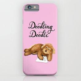 Doodling Doodle (Pink) iPhone Case