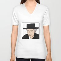 bob dylan V-neck T-shirts featuring Bob Dylan by Whiteland