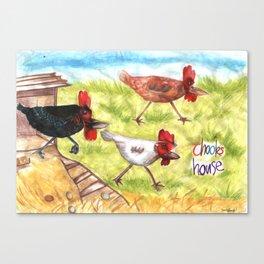 Chooks House Canvas Print
